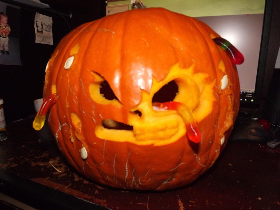 Gummy Worm Zombie Pumpkin by kumagoro4ever on DeviantArt