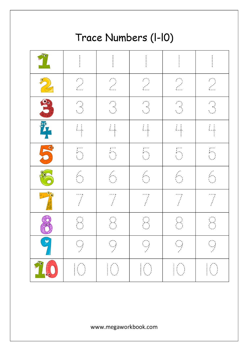 Writing Numbers In Words Worksheets Kindergarten