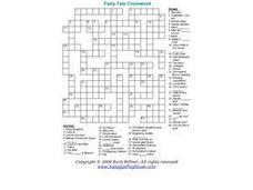fairy tale crossword worksheet school ideas pinterest worksheets teacher and students. Black Bedroom Furniture Sets. Home Design Ideas