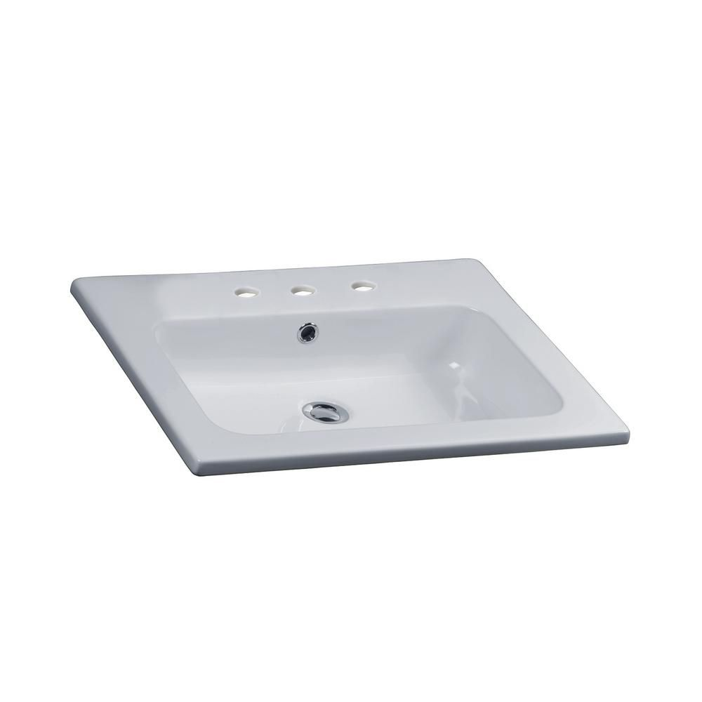 Barclay Products Cilla Drop In Bathroom Sink In White 4 158wh