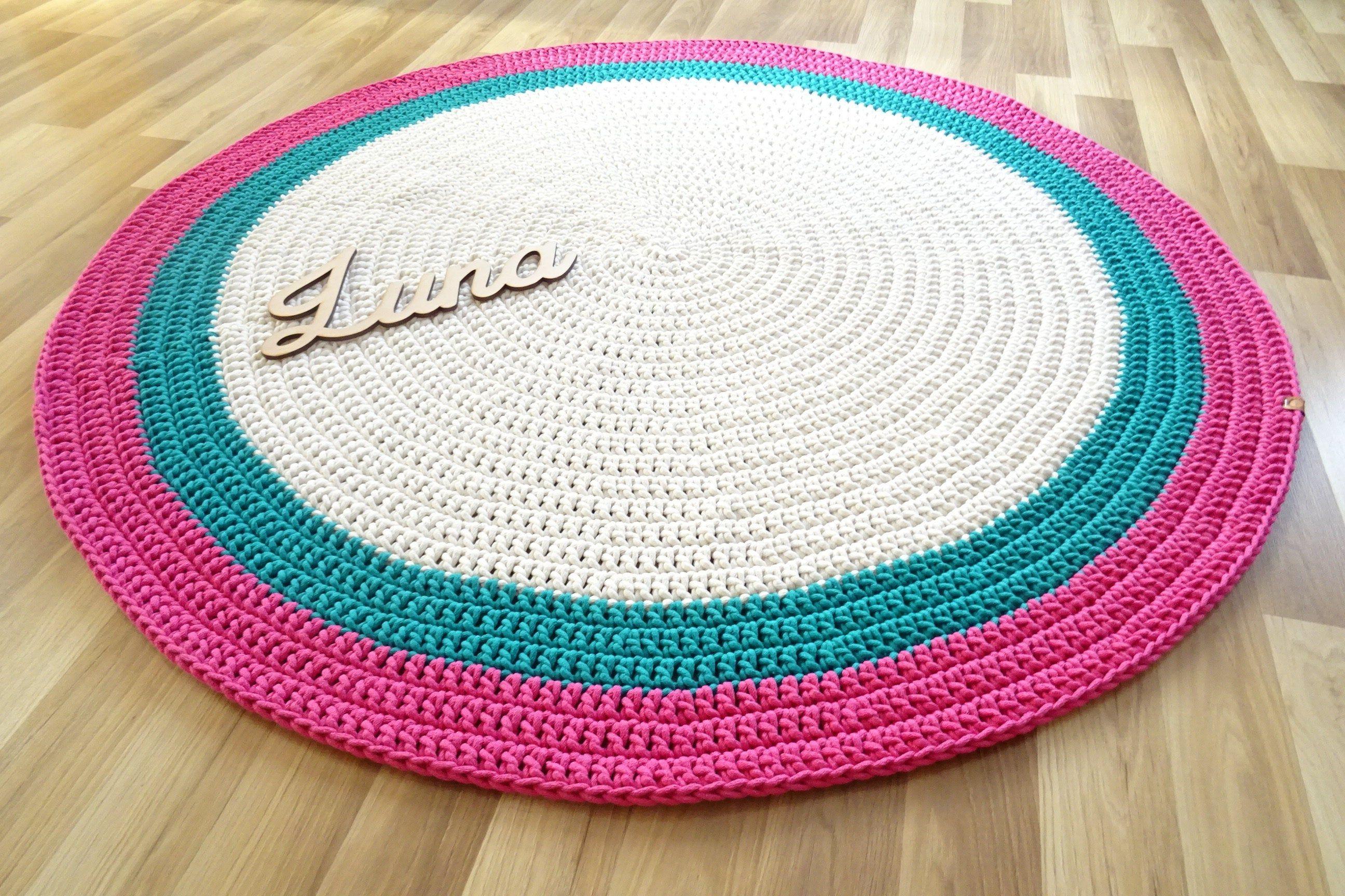 Nursery Rug Crochet Decor