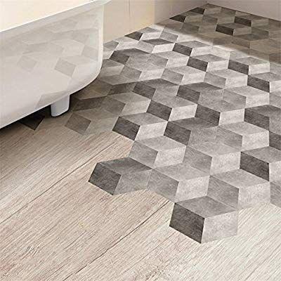 amazon: vanbest 3d gradient gray hexagon floor wall