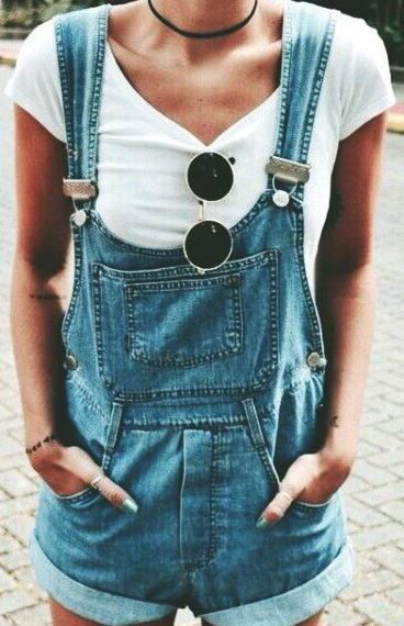 1ba645e3ef80 Overalls make the most perfect and trendy summer outfits!