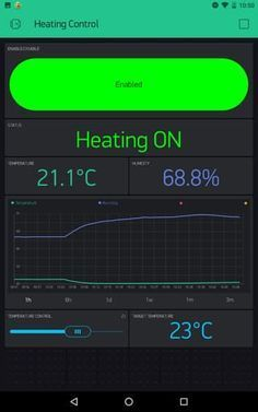 Blynk Heating Control UI very detailed description | Electronics in