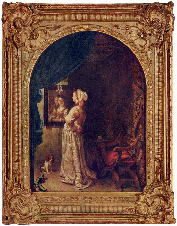 Badspiegel München frans mieris de oudere dame vor einem spiegel leyden ca 1670