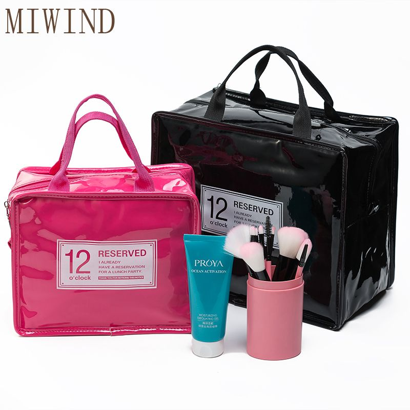 db342524dc MIWIND Cosmetic Bags Portable Travel Kit Waterproof Polyster Toiletry Bags  Large Capacity Women s Handbag TLN917