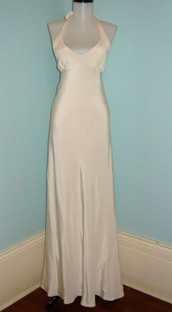 JCrew Wedding Dress Silk Halter Simple Caroline Kennedy Style Bridal ...