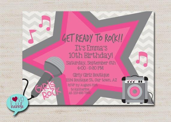 Rock Star Party Karaoke Party Super Star Party Invitation Etsy Rock Star Party Party Invitations Printable Karaoke Party