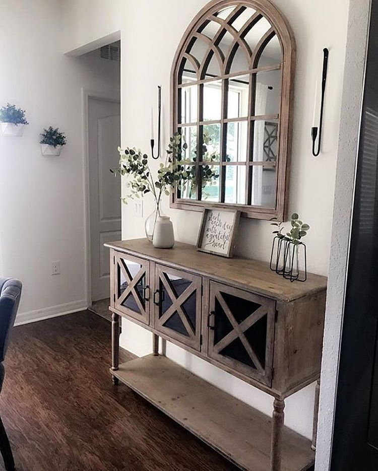 Greyjuniper Sure Does Love Wooddecor And Our Natural Sadie Arch Mirror Matches So Well She Does A Gre Formal Living Room Decor Home Decor Dining Room Decor