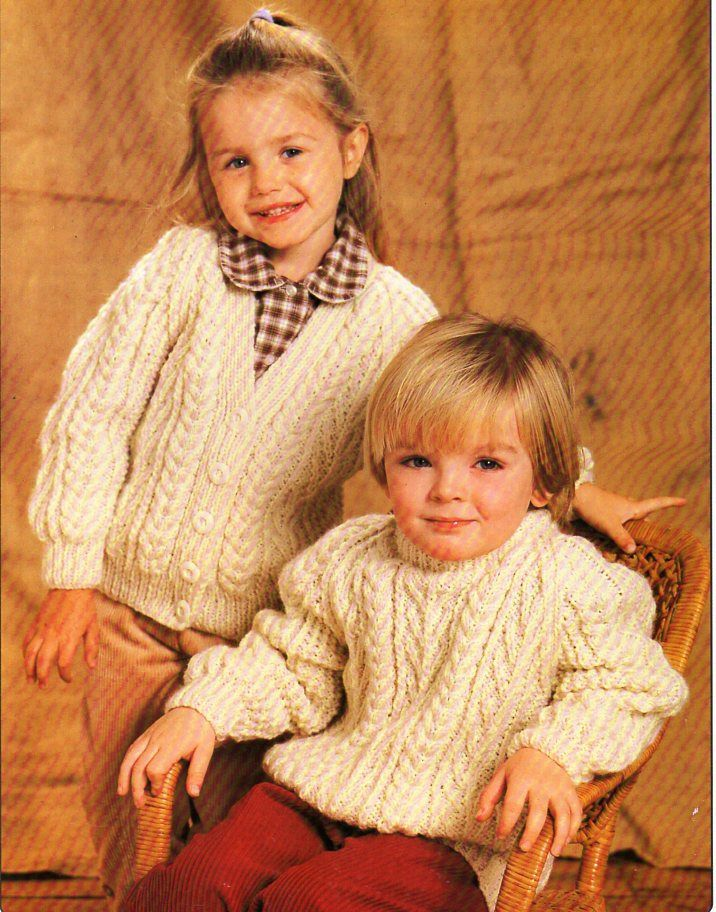 26004e04eaab Baby   childrens aran sweater and cardigan knitting pattern pdf ...