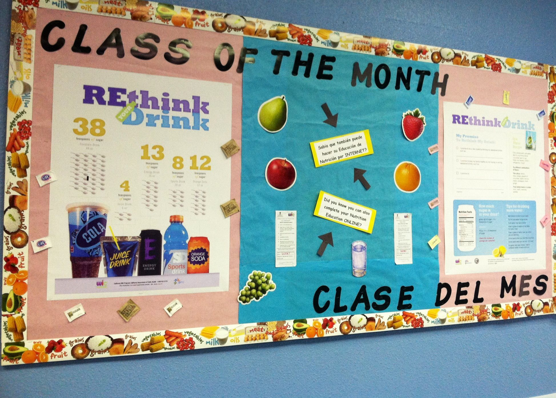Class of the month bulletin board at the wic office