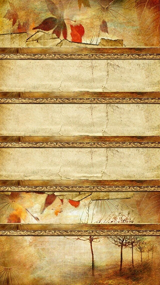 iPhone wallpaper autumn shelves Обои