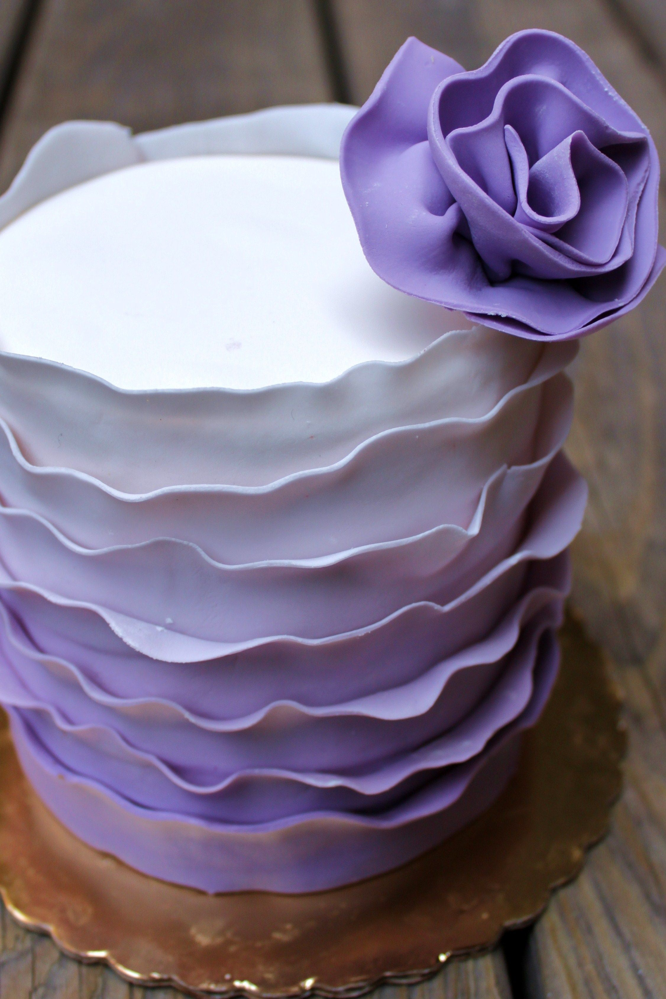 Violet flower cake by Alliance Bakery Chicago First Birthday Party