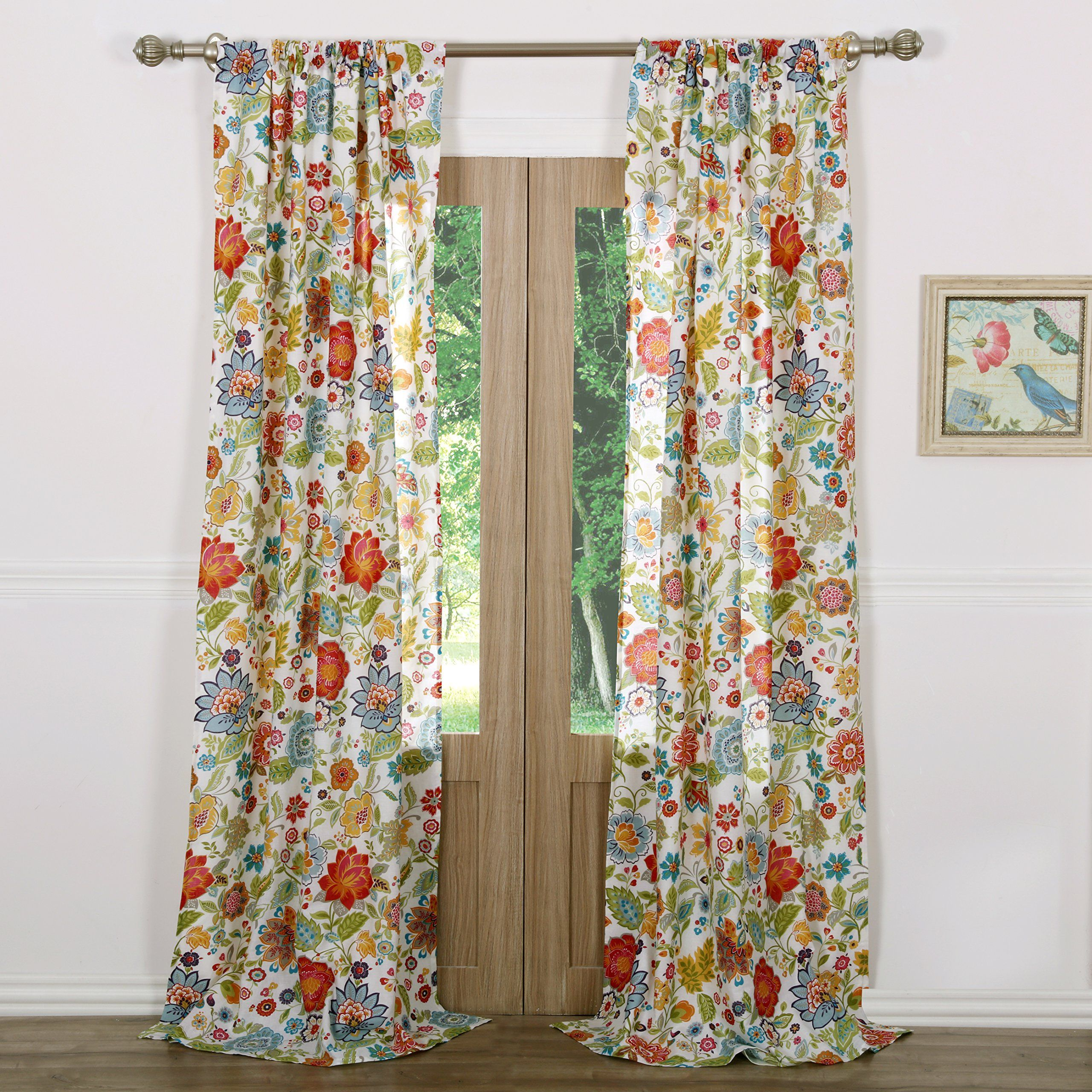 Greenland Home Astoria Curtain Panel Set 84 Inch L White In 2020