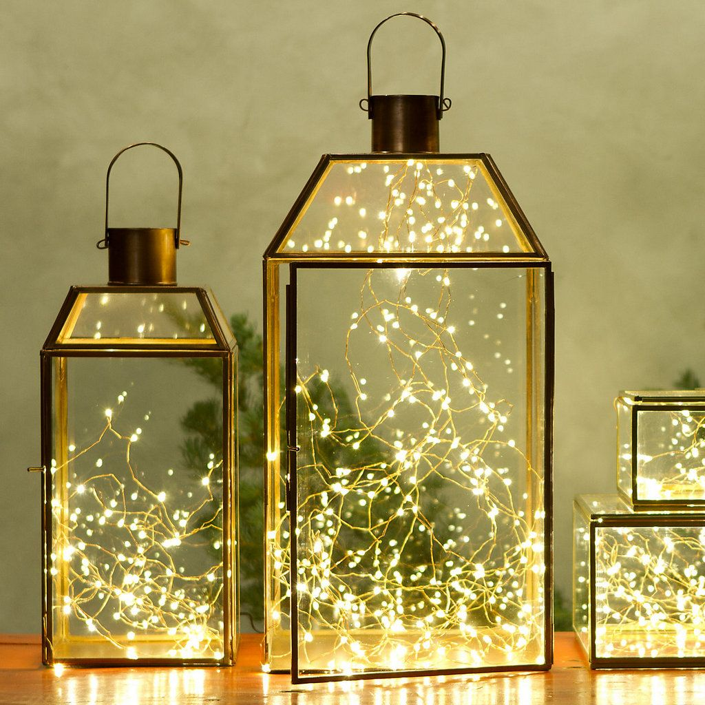 The Easiest, Brightest Holiday Table Centerpiece | Lights, Holiday ...