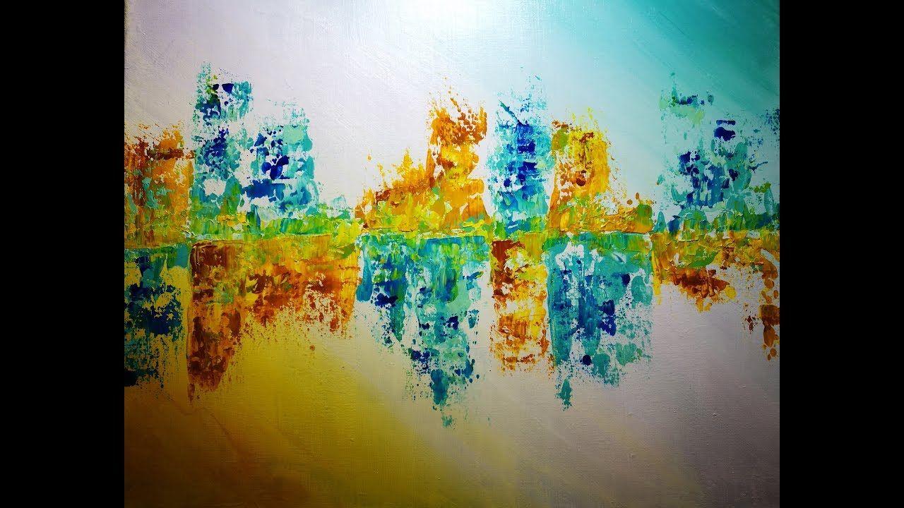 Rapide Et Facile Une Peinture Acrylique En Moins De 30min Abstrait