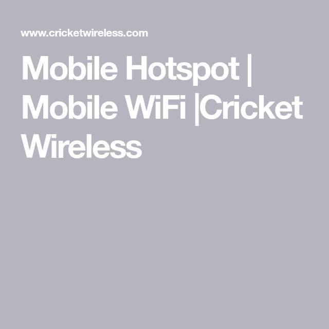 Mobile Hotspot   Mobile WiFi  Cricket Wireless   iPhone