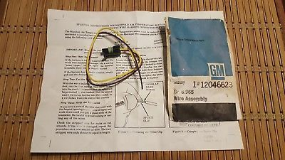 GM WIRE ASSEMBLY #12046623 Gr  8 965With Instructions New Old Stock