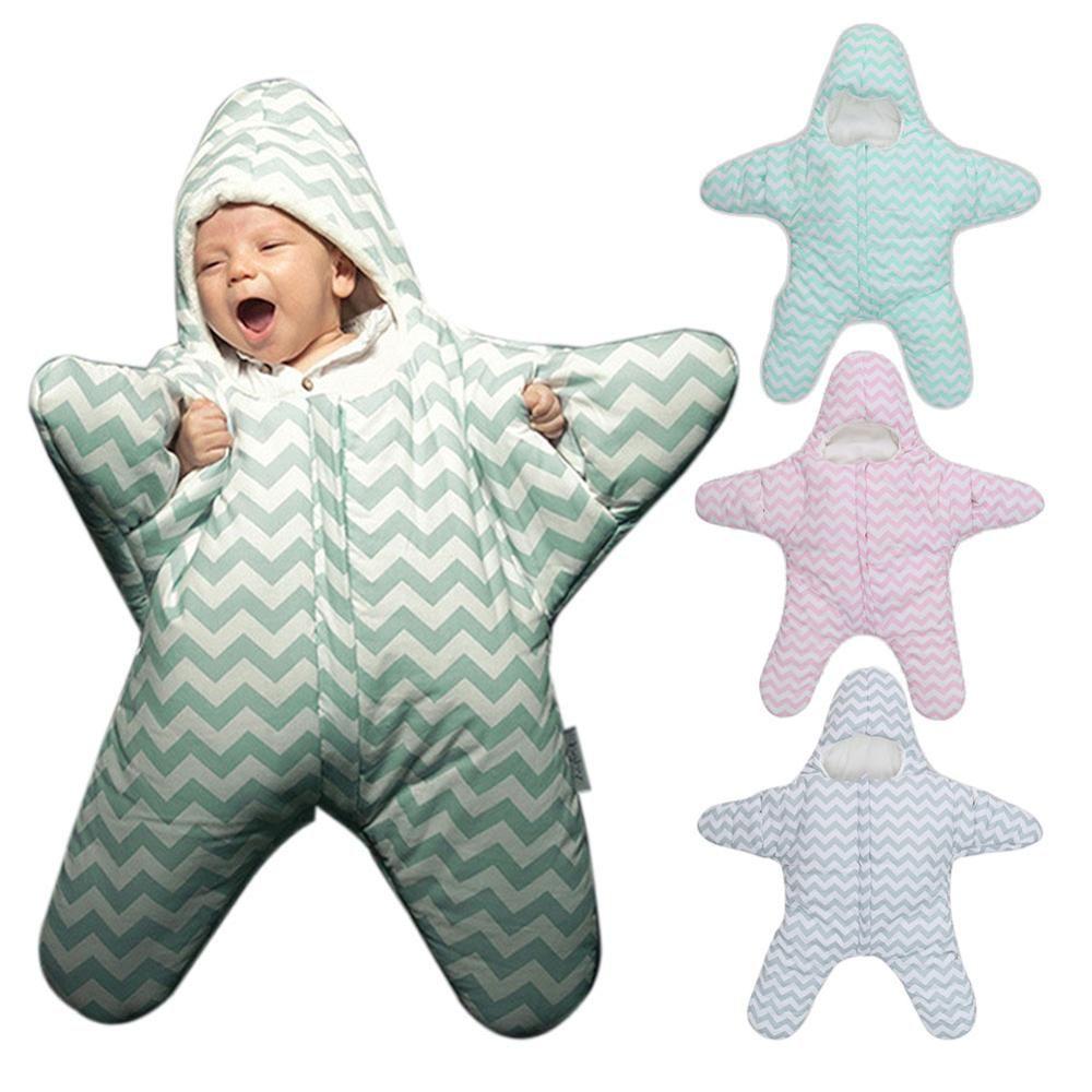 2017 New Cute Starfish Baby Sleeping Bag Unisex Winter Babies Sleep ...
