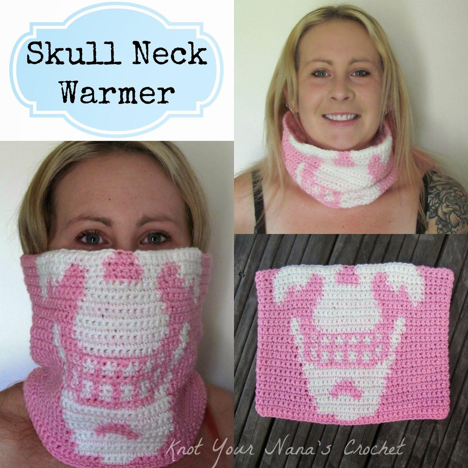 Knot Your Nana\'s Crochet: Crochet Skull Neck Warmer   CROCHET NEW ...
