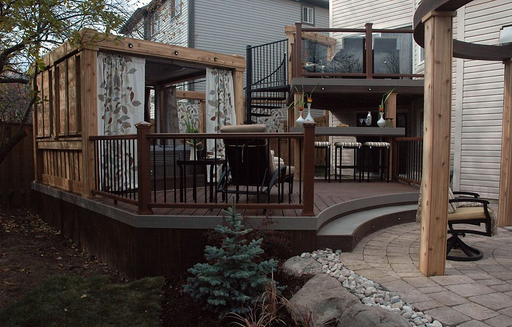 Two Story Deck Designs By Paul Lafrance And Cutting Edge