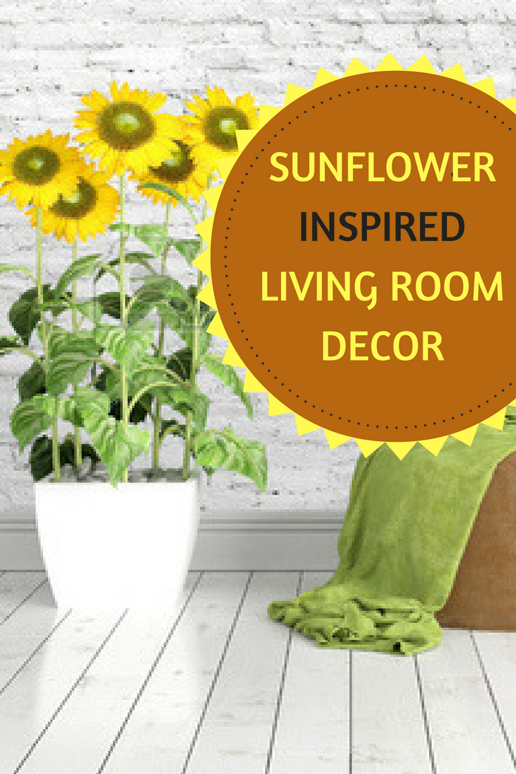 Sunflower living room decor
