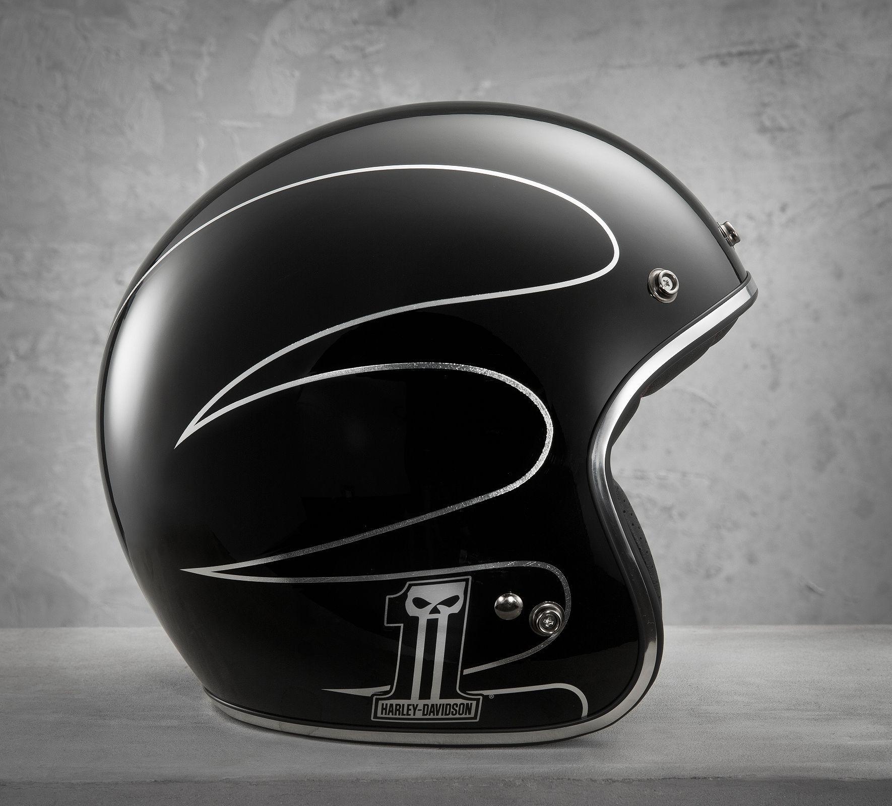 Men S Elite Retro 3 4 Helmet 98307 14vm Helmet Custom Motorcycle Helmets Harley Davidson Online Store