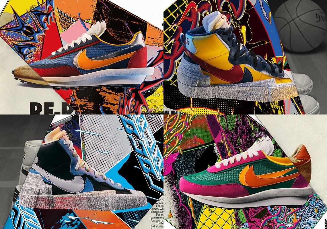sacai Nike LDWaffle + Sacai Blazer