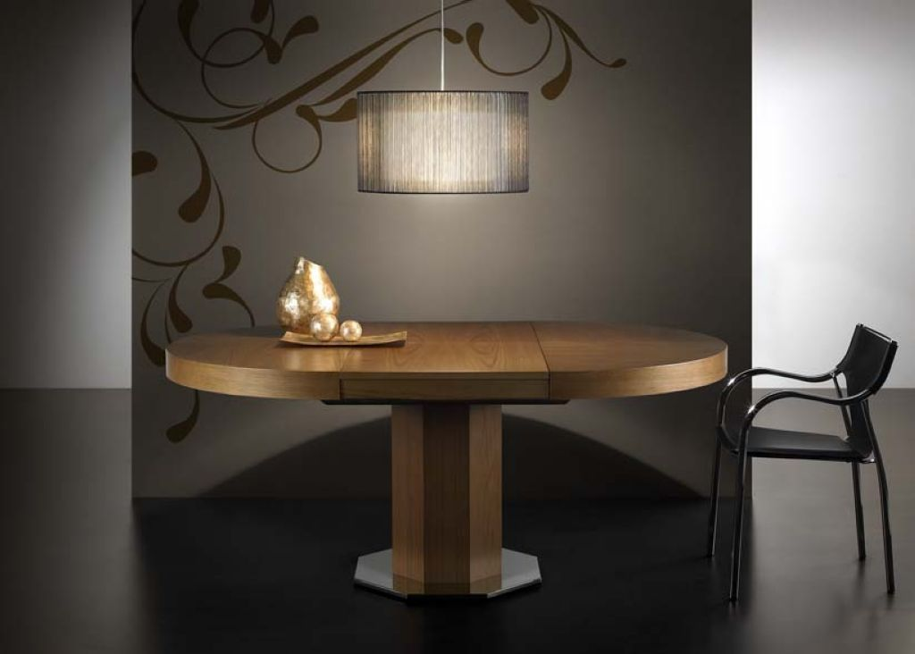 Mesa de comedor redonda extensible disponible en medidas - Mesa comedor redonda ...