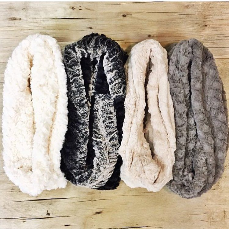 """Some luscious #SoftCuddle #scarves #infinityscarf heaven - great selection @adornitshoppe - these make amazing #gifts- but you'll want a few for yourself…"""