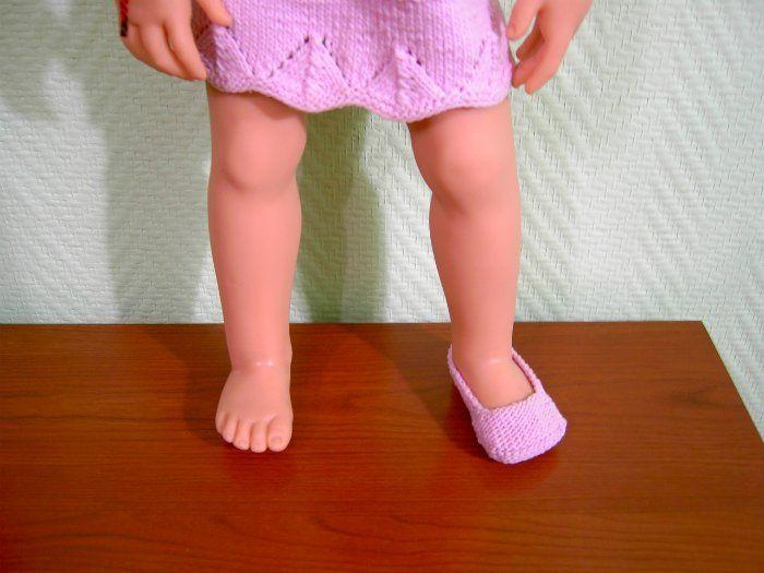 Обувь для кукол спицами. Схема вязания, мастер класс ...