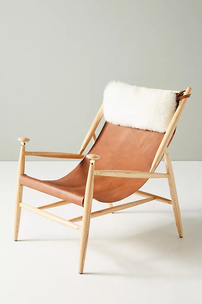 Sydney Slingback Chair In 2020 Leather Chair Wood Chair