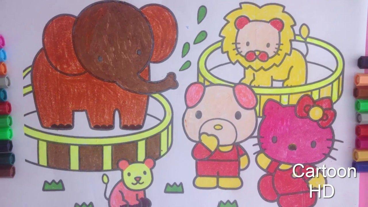Atractivo Colorear La Imagen De Hola Gatito Regalo - Dibujos Para ...