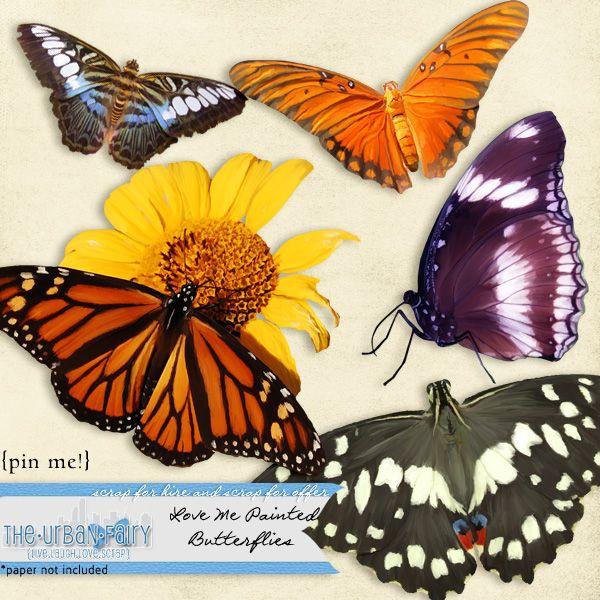 Love Me Painted - Butterflies #TUF