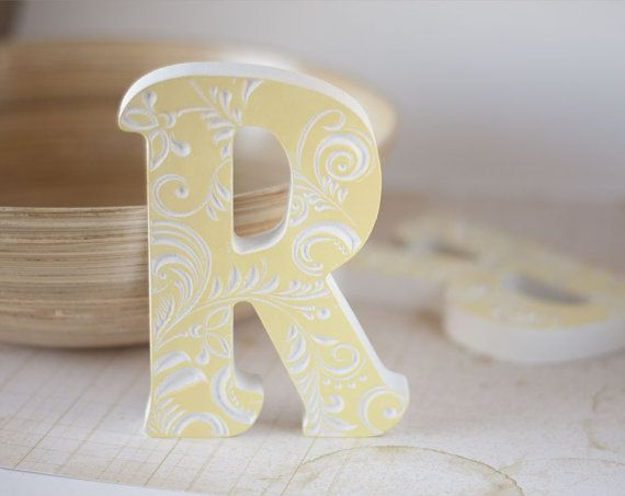 Wooden Letters For Nursery Letter Baby Wood Block Decorations Fo