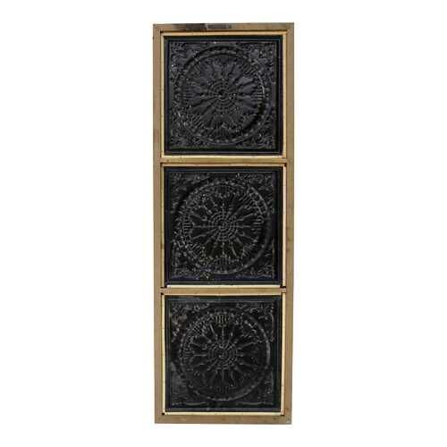 Photo of Distressed Mykonos Medallion Metal & Wood Wall Decor