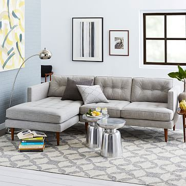 Peggy Mid Century Chaise Sectional Living Room Designs Mid Century Modern Living Room Couches Living Room