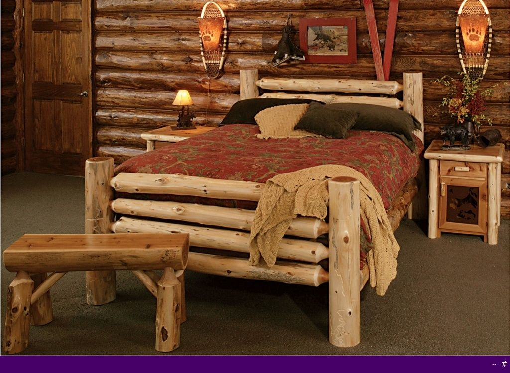 Cedar Bed Frame Plans Log Kits Rustic Furniture Mall By Timber Creek Bedroom