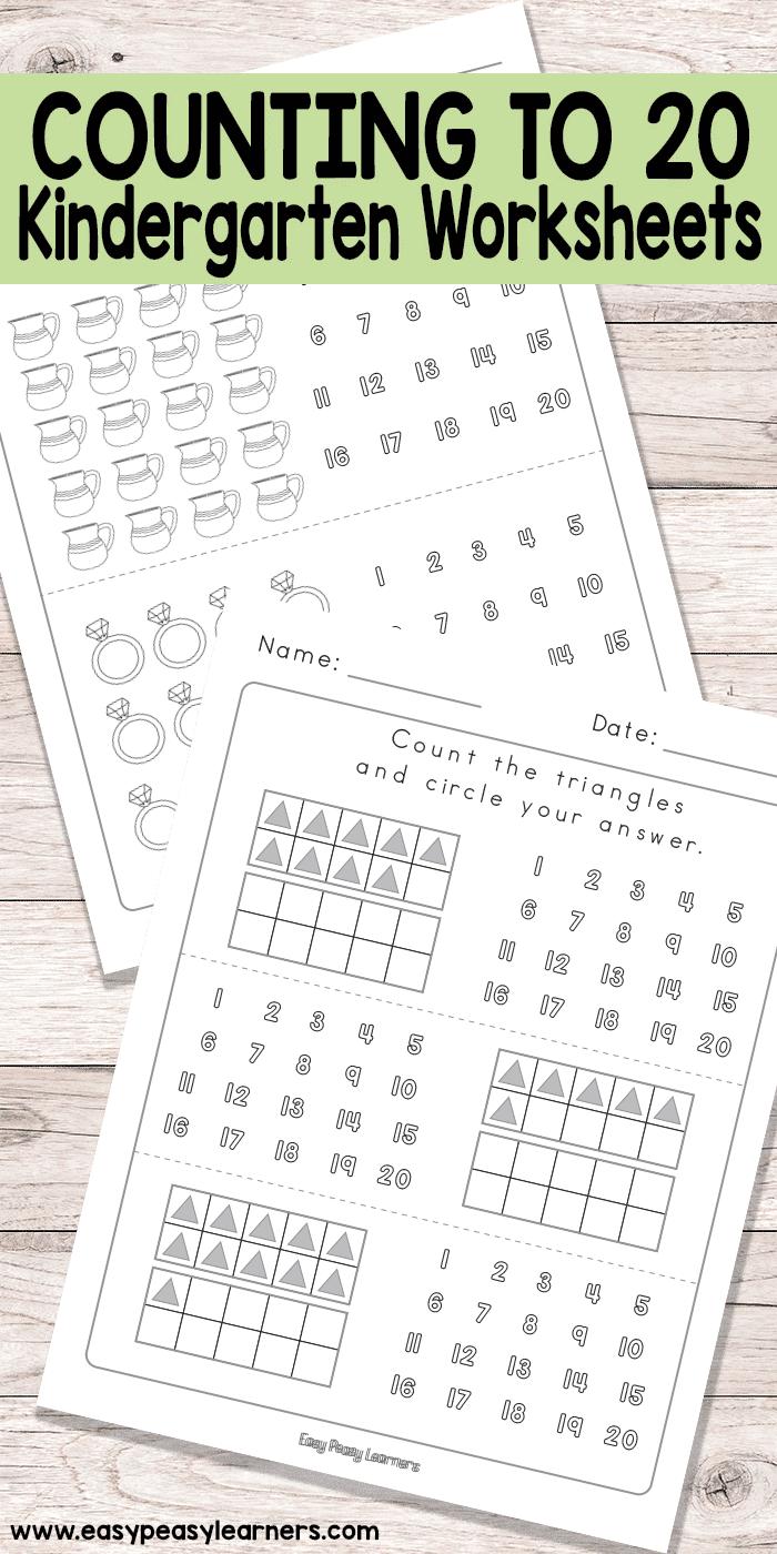 Counting to 20 Kindergarten Math Worksheets || easypeasylearners ...