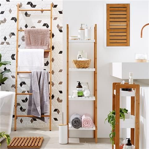 There S Those Bamboo Shelving Units From Kmart Looking Smart Home Decor Decor Bamboo Decor