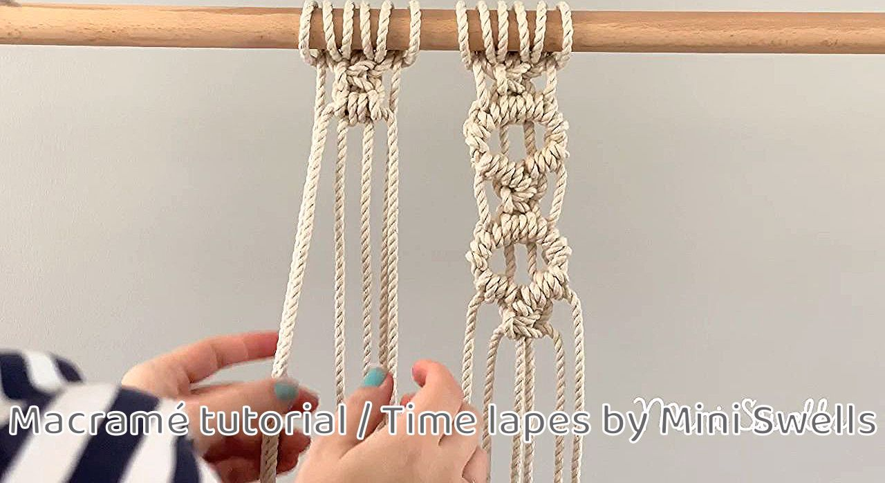 A fun pattern to add to any macrame project. For more inspiration or fiber art supplies check out our shop.  #macrame  #macramewallhanging #macramewallart #macramewallhangingtutorial #macrameknots #learnmacrame #macrametutorial #diyhomedecor #diymacrame #macrameprojects #macramepattern #ropeknots #beginnersmacrame #macramerope #yarncrafts #diyhomecrafts #macramediy #macramelove #macrameinspiration
