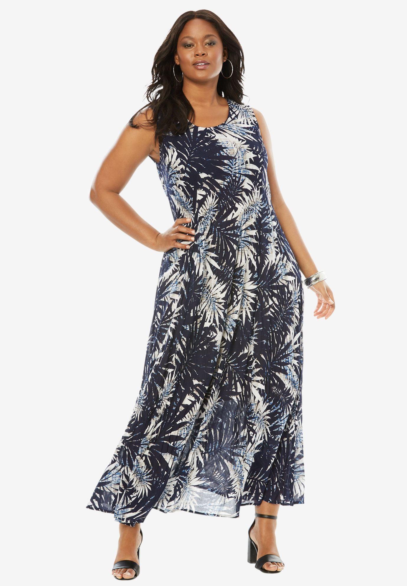 52cf110c87f A Line Crinkle Maxi Dress