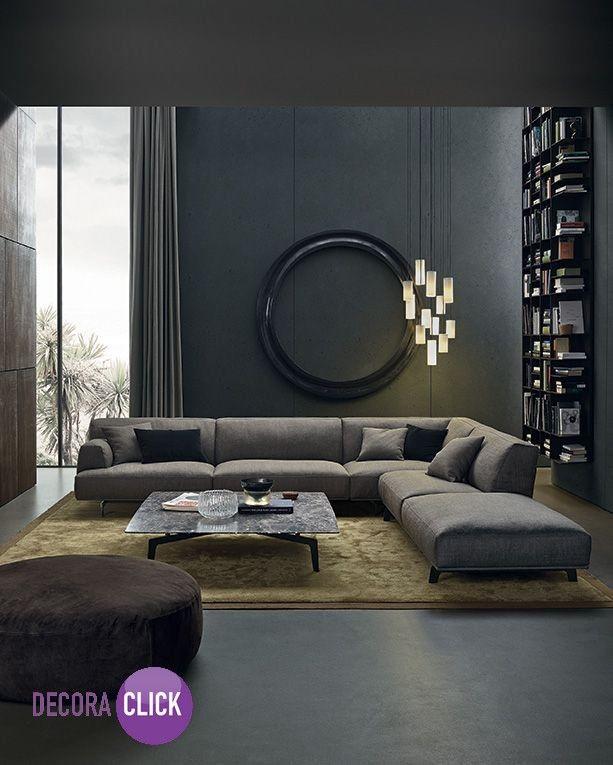 Uma ótima opção para quem quer um ambiente com mais seriedade são as cores escuras. Os pendentes deixaram o ambiente bem interessante.