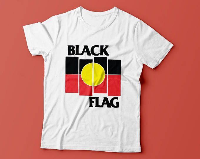 Black flag  aboriginal  shirt white also shopping rh pinterest