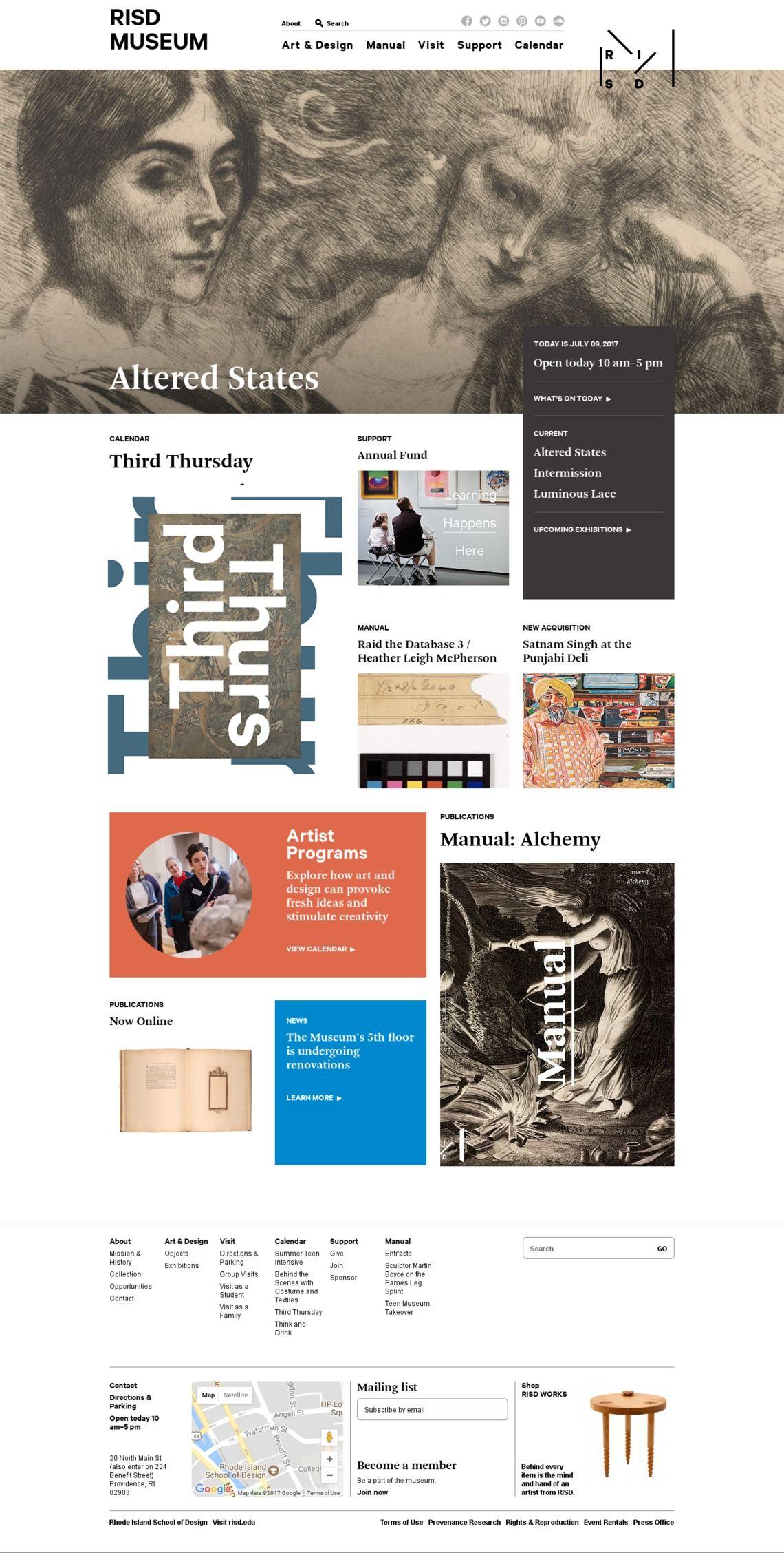 Risd Museum Art Web Design Museum Web Design