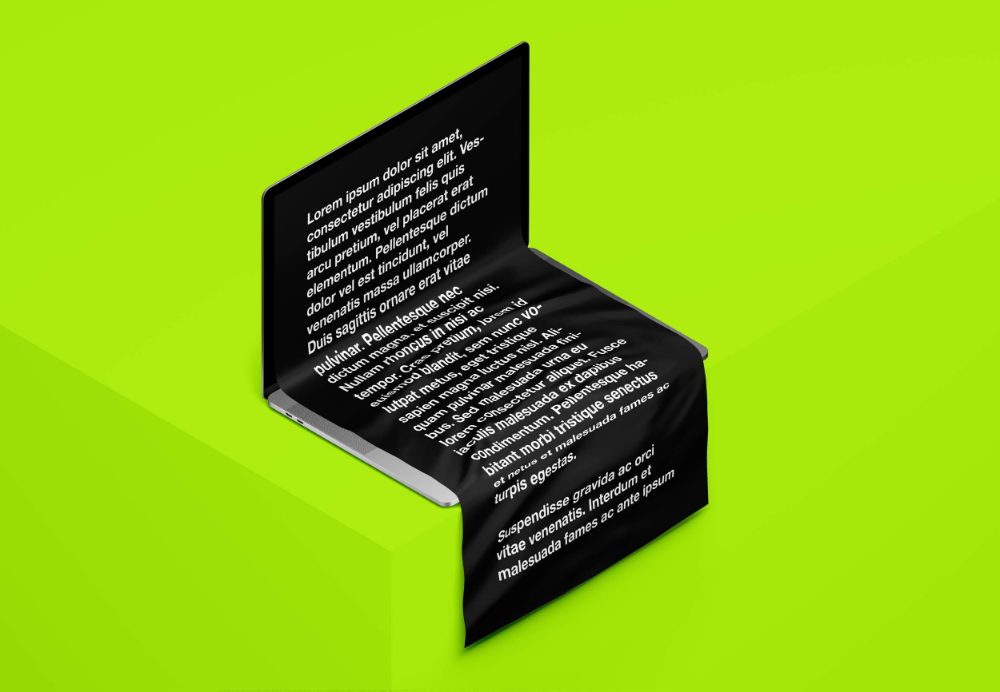 Free Macbook Long Scroll Mockup Ls Graphics Free Mockup Mockup Design Mockup