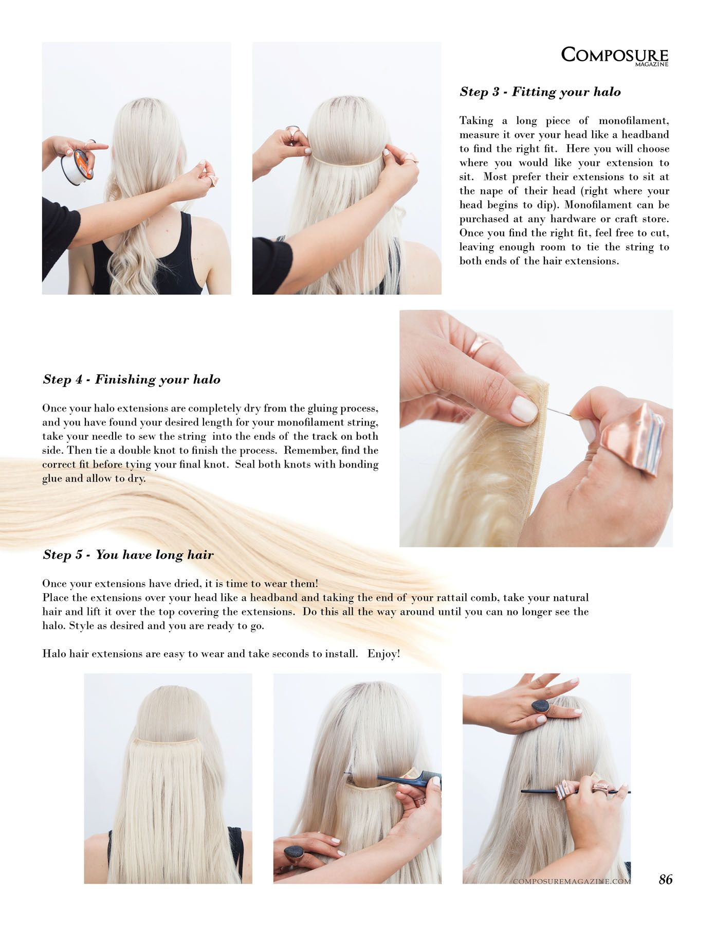 How To Guide For Halo Hair Extensions Hair Pinterest Halo Hair