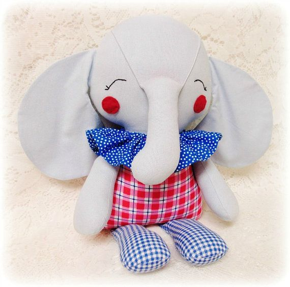 EASY Elephant Softie PATTERN, PDF sewing pattern, Soft Doll, Toy ...