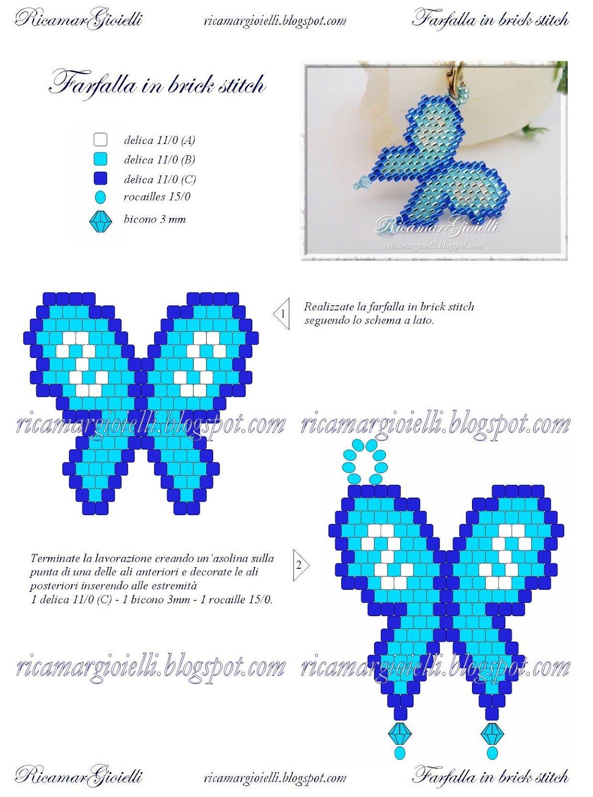 Joyería Bordar: Patrones y tutoriales | Bead Bugs | Pinterest ...