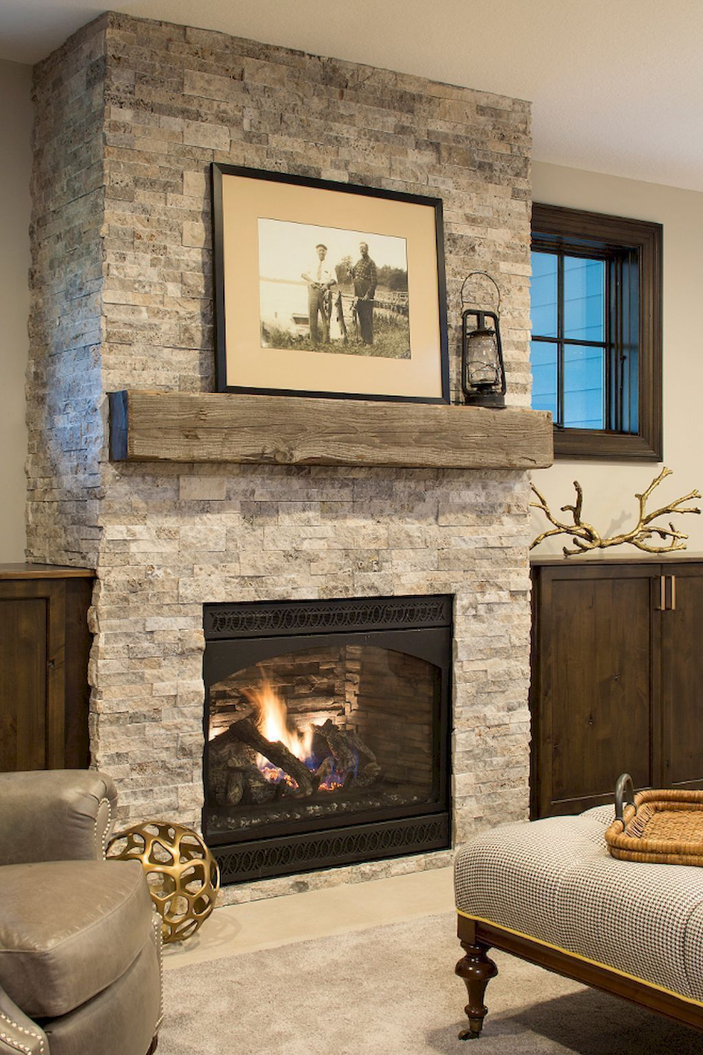 Tv In Corner Of Room Design: 80 Incridible Rustic Farmhouse Fireplace Ideas Makeover